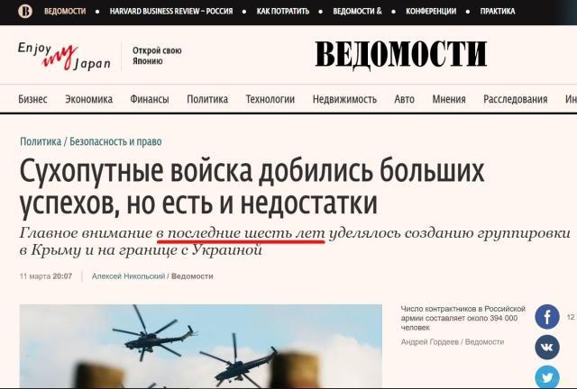 Росія готувалась до воєнних дій в Україні мінімум шість років
