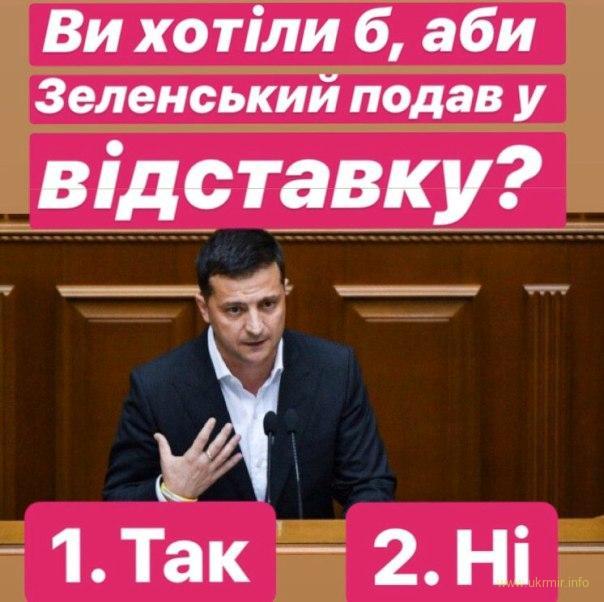 Українці пропонують Зеленському поки що добровільно скласти повноваження