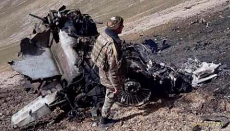 Армения «показала» сбитый турецким истребителем Су-25