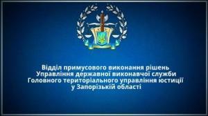 Відділ примусового виконання рішень у Запорізькій області