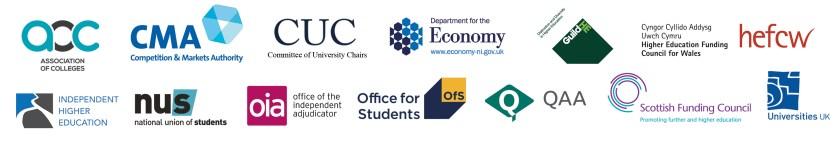 Logos of the members of the UKSCQA