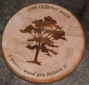 Personalised Chopping Block.