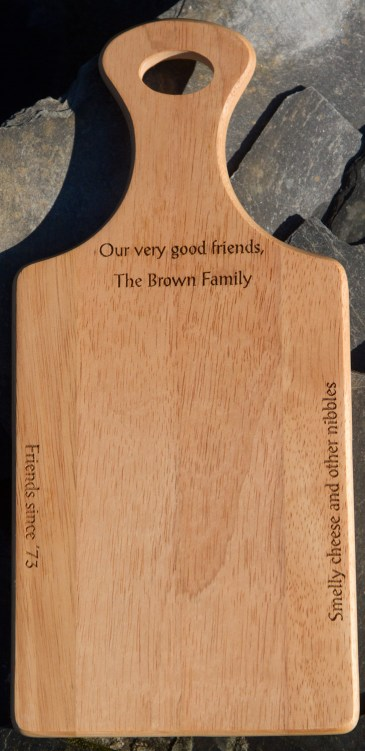 Made in rubber wood - a very stable hardwood from the maple family