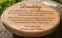 Oval Oak Memorial Plaque. http://www.sign-maker.net/wooden/round-oval-plaque.html
