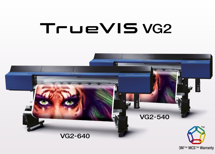 New Roland DG TrueVIS VG2 Printer/Cutters with TR2 Ink Are