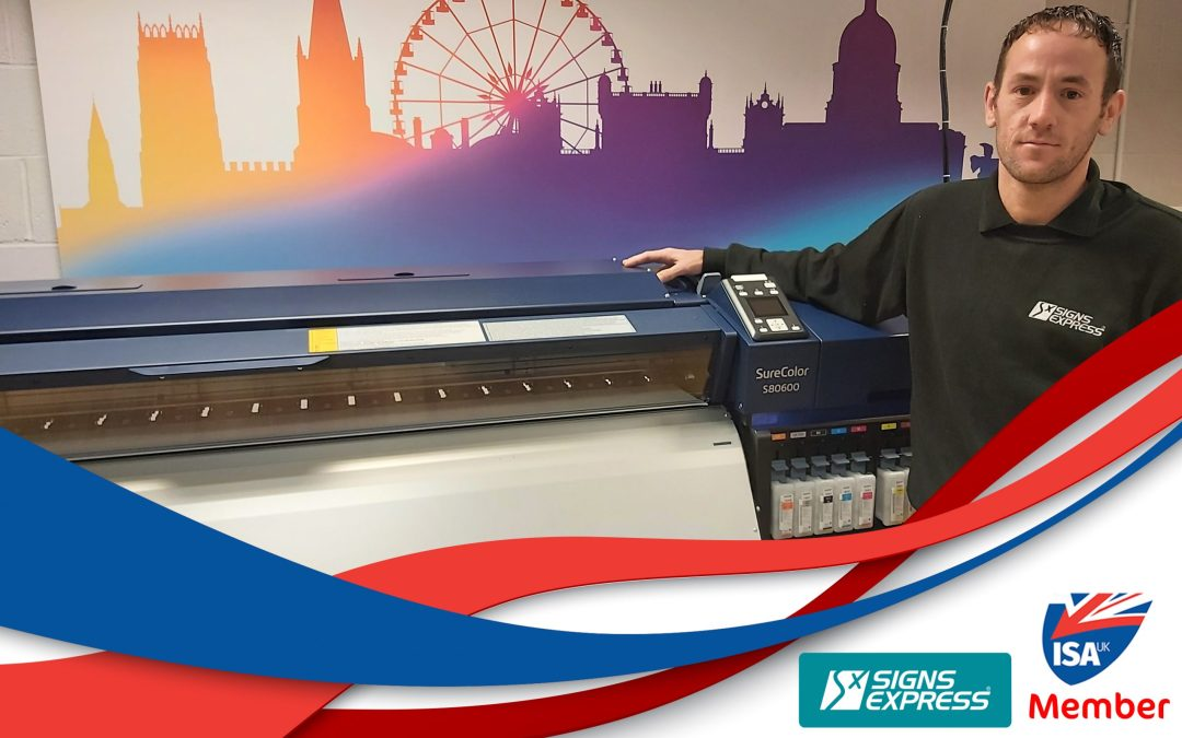 ISA-UK Member Signs Express streamlines production with Epson SureColor SC-S80600