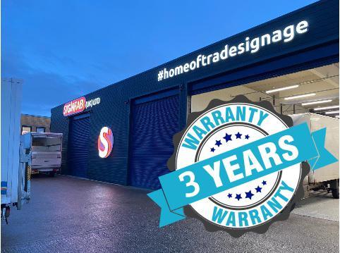 ISA-UK Member SignFab 3 year warranty