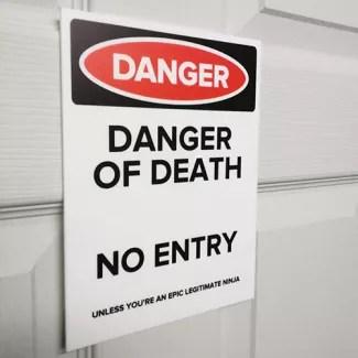 bedroom door signs children s