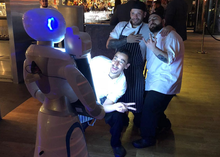 , Eva the robot photographer attends first UK prom