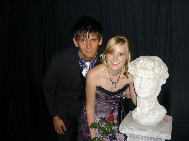 Sarah Kingon and Nico Meiring pose with Lord Selborne at the Clarendon High School Matric Dance in April 2010.