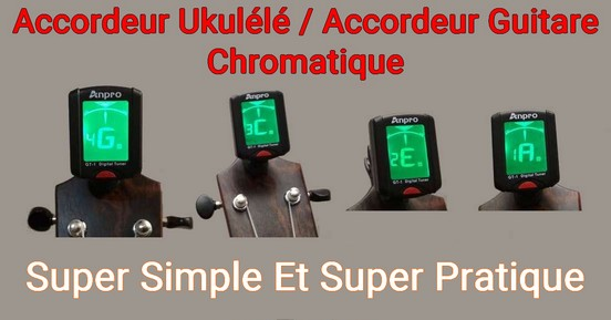 Accordeur Ukulélé Guitare Chromatique