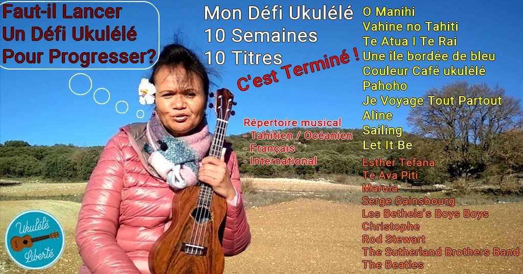 un défi pour progresser au ukulele