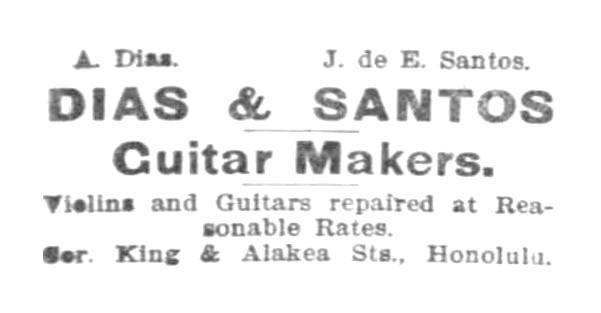 Dias et Santos fabricants de Guitares