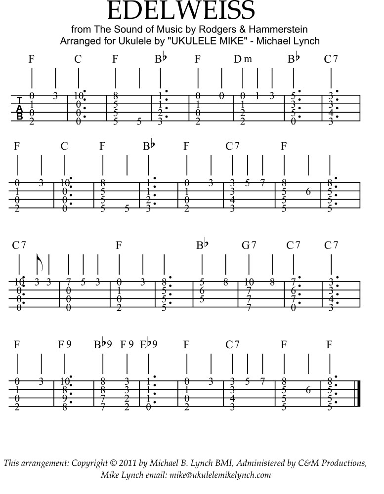 UKULELE INSTRUMENTAL TABLATURES from