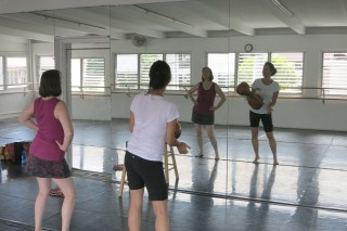 Dancing (hula) with Kanoe…