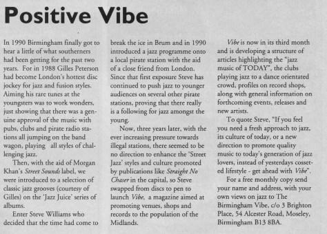 Jazz-In Magazine 1993 Part of Jazz Services