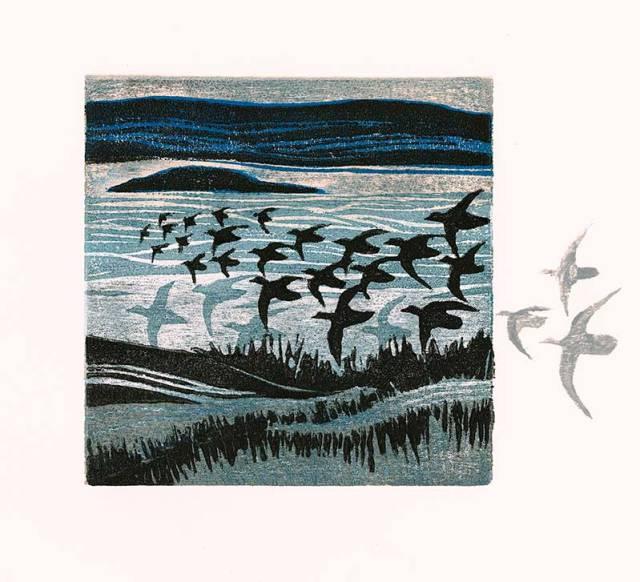 Original prints - variable edition woodcut - Edge of Salt Marsh 3