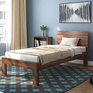 Boston Single Bed Teak Finish Without Trundle By Urban Ladder
