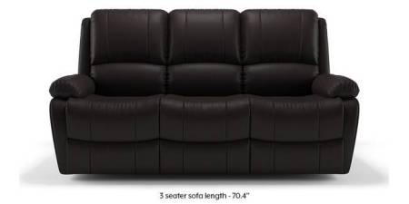 Recliner Sofa Sets  Check 4 Amazing Designs   Buy Online   Urban Ladder Tribbiani Recliner Sofa Set  Chocolate Brown Leatherette   None Custom Set    Sofas