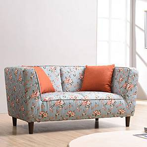 Loveseat Sofas   Buy Loveseat Sofas at Best Prices in India   Urban     Janet Loveseat  Vintage Floral Teal  by Urban Ladder