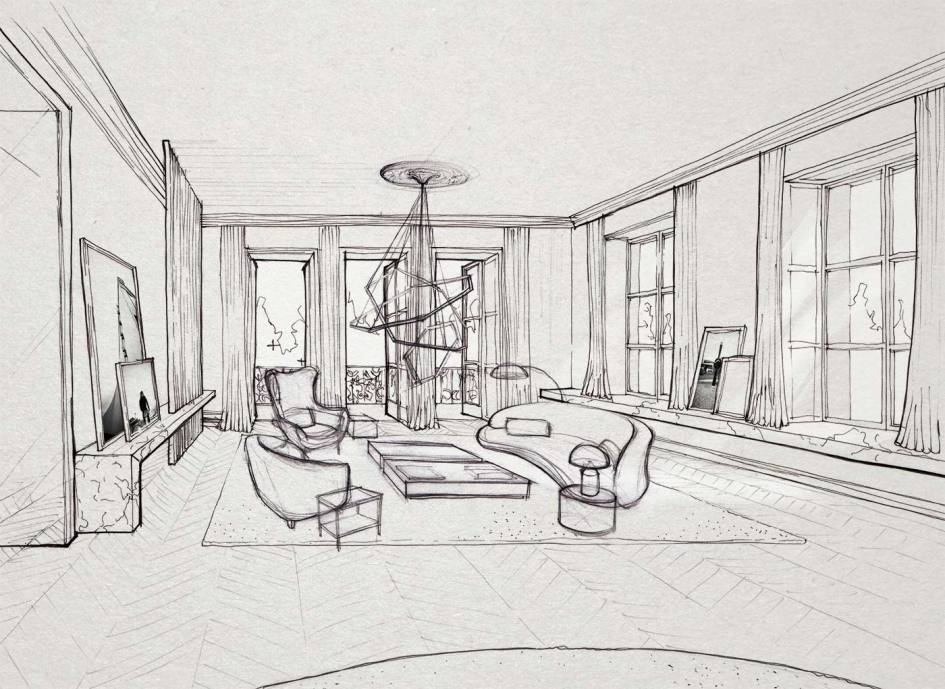 Interior Design Sketching A Must Have For Original Artistic Design In 2020