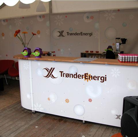 Fra Trønderenergis stand på Pstereofestivalen 2009