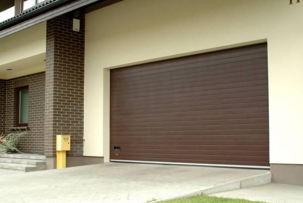 Секционные ворота в гараж, панель доска, 2800х1900: купить ...
