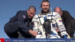 Kru Film Rusia Pulang ke Bumi Setelah Syuting di Luar Angkasa
