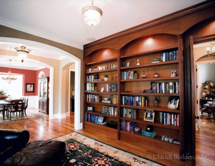 Custom Home - Built-in Bookcase