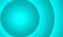 farbkreis in eisigem türkis