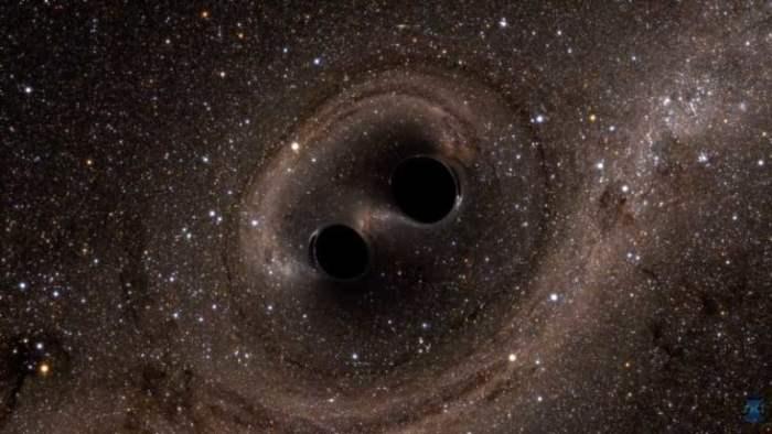 Simulering från LIGO.