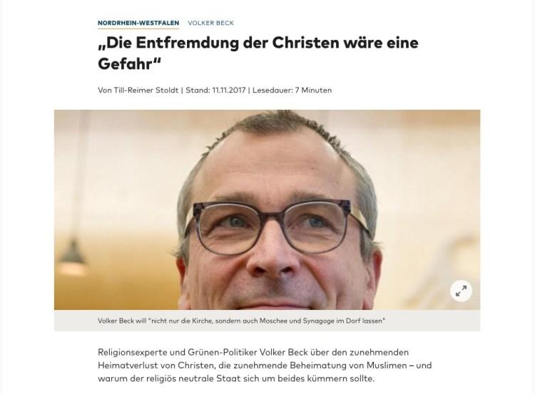 11.11.2017 Volker Beck Religionsexperte