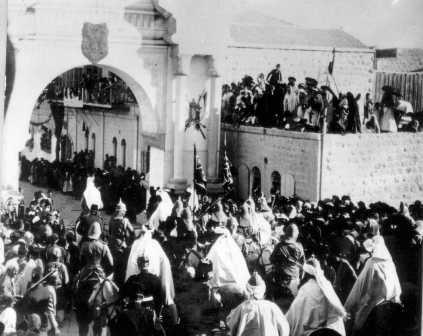 The German Kaiser entering Jerusalem
