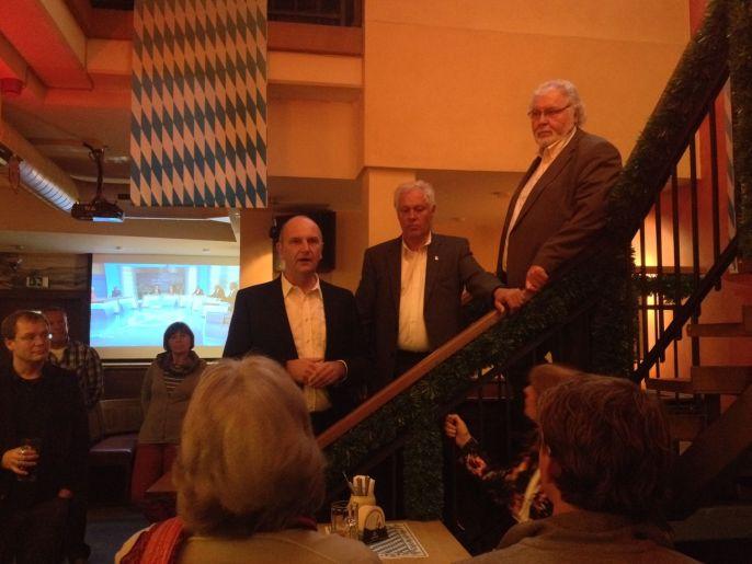 Am Wahlabend im Brau & Bistro mit Ministerpräsident Dietmar Woidke