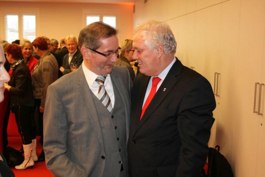 Uli Freese gratuliert Matthias Platzeck zum 60.