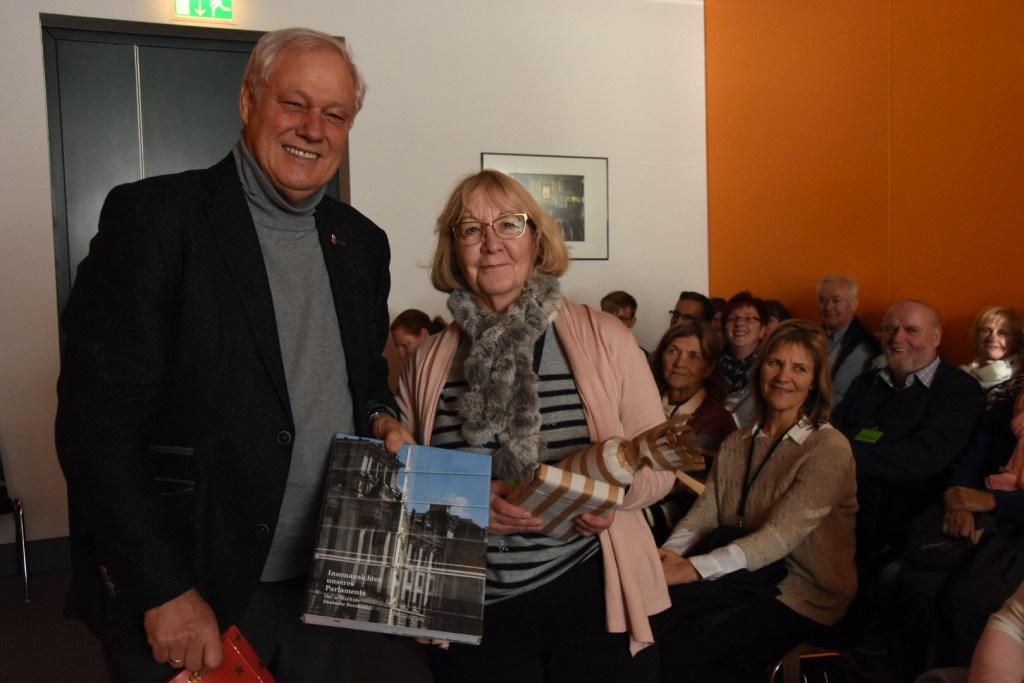 Barbara Schatter aus Spremberg war die 500. Besucherin im Jahr 2018