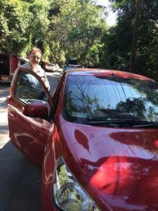unser kleines rotes Auto