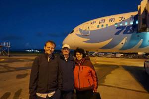 """Auckland Flughafen vor """"unserem"""" Flieger"""