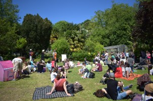 The Cotton Tails en la campa del parque Viveros de Ulia