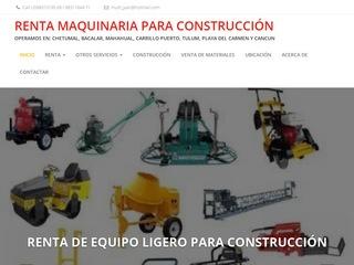 Renta Maquinaria Para Construccion