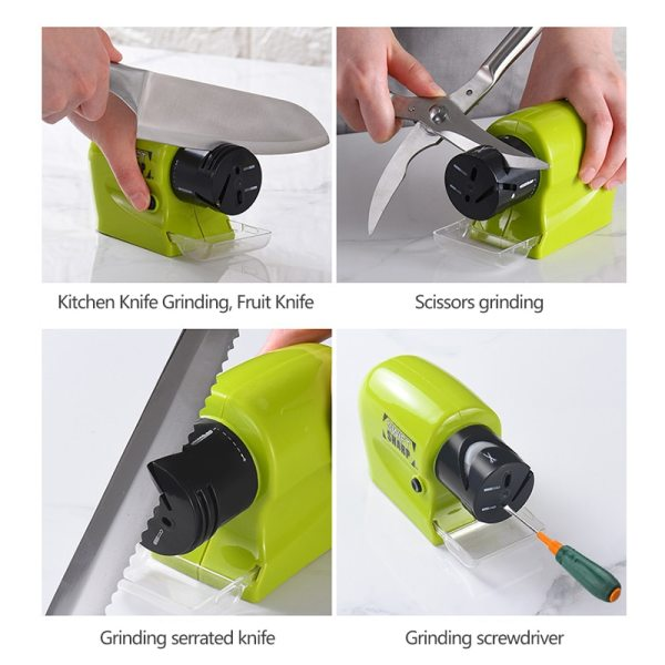 Electric Sharpener Fast Household Multi Electric Grindstone Kitchen Fruit Knife Diamond Steel Ceramic Home Knife Sharpener