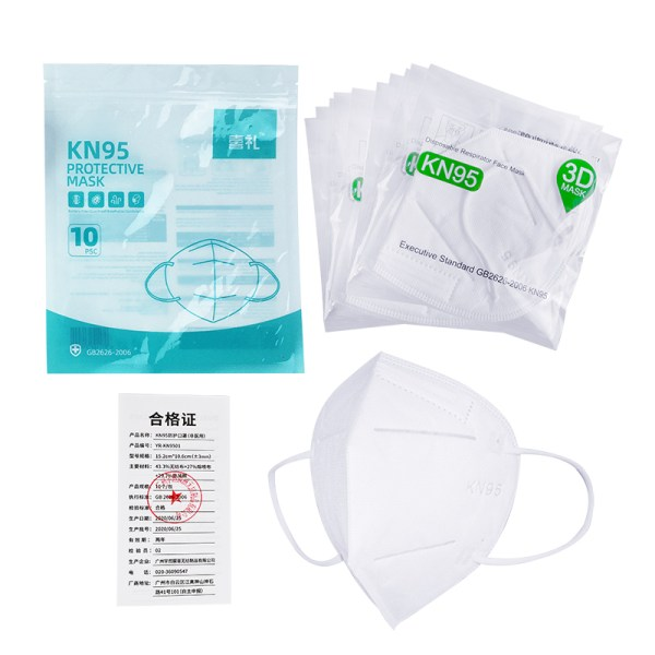 Kn95 GB2626 Approved Standard FFP2 PM 2.5 Disposable 3d Foldable Kn 95 Kn95-Mask Facemask Separate packing Face Mask