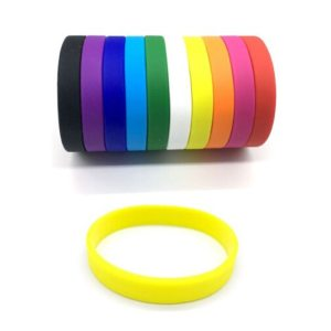 12 Colors Fitness Power Bands Energy Bangles Men Basketball Sports Wristbands Silicone Rubber Elasticity Wristband Wrist Band