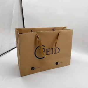 Custom Gift Paper Bags With Your Own Personal Logo Shopping Bag