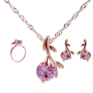 Amazing Price jewelry sets african bridal gold color necklace earrings Ring wedding crystal sieraden women fashion jewellery set