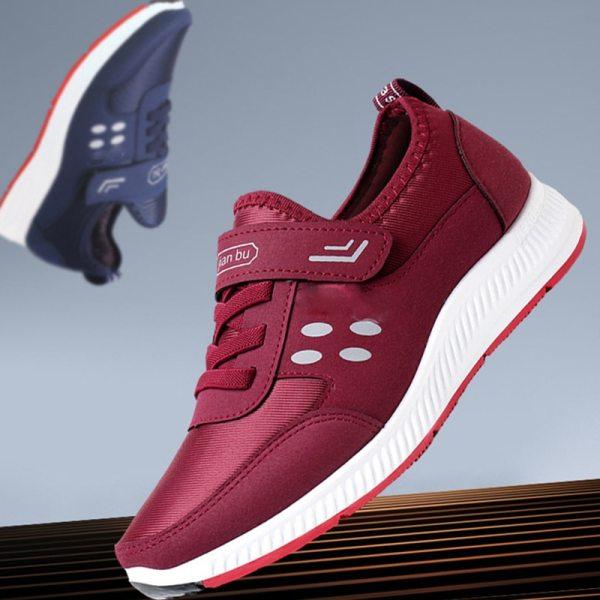 2020 Fashion Women's Net Buckle Vulcanized Leather Shoes Sports Shoes Flat Shoes Women's Solid Fashion Leisure Platform Shoes