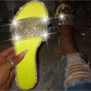 Pink Glitter Slippers Women Summer Beach Sandals
