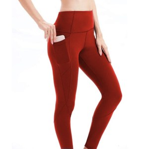 ZOHRA Women High Waisted Yoga Pants with Pockets Leggings for Women Buttery Soft Work Out Pants Tummy