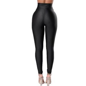 Fashion High Quality Fitness Leggings with Waist Cincher Black Tight Leggings for Women