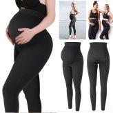 Women's High Waist Maternity Leggings Pregnant Waist Belly Support Legging Pregnancy Skinny Pants Pregnancy Body Shaping Panties